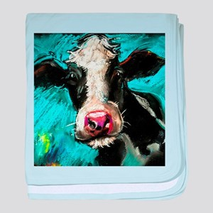 Cow Painting baby blanket