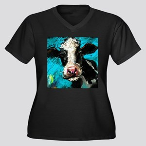 Cow Painting Plus Size T-Shirt