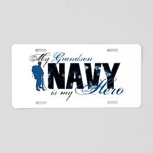 Grandson Hero3 - Navy Aluminum License Plate
