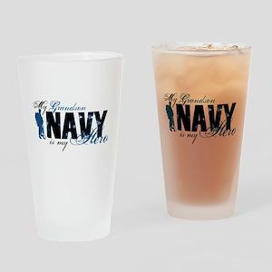 Grandson Hero3 - Navy Drinking Glass