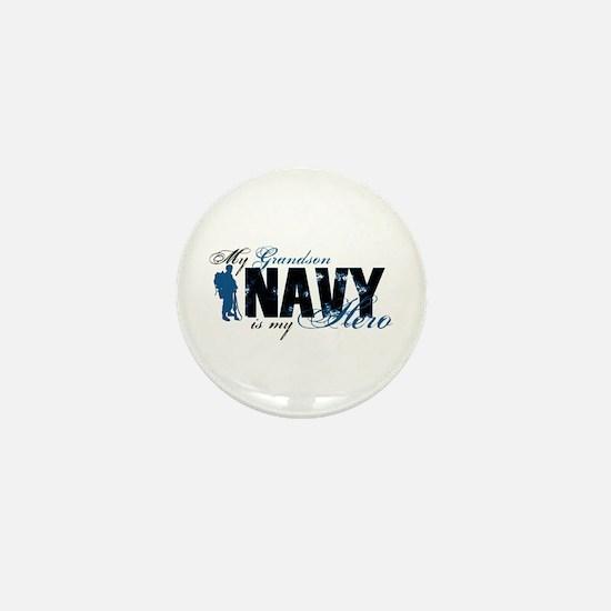 Grandson Hero3 - Navy Mini Button