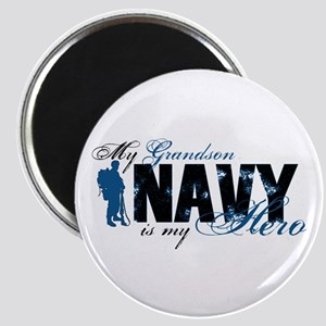 Grandson Hero3 - Navy Magnet