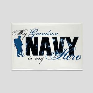 Grandson Hero3 - Navy Rectangle Magnet