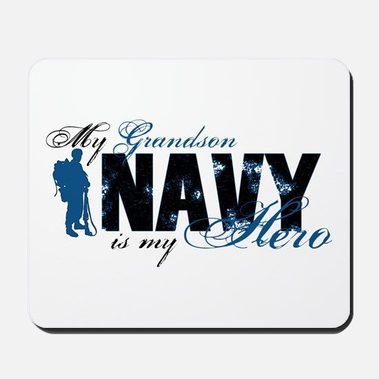 Grandson Hero3 - Navy Mousepad