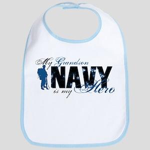 Grandson Hero3 - Navy Bib