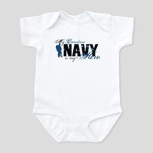 Grandson Hero3 - Navy Infant Bodysuit