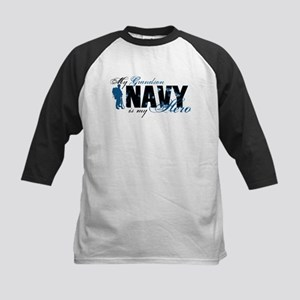 Grandson Hero3 - Navy Kids Baseball Jersey
