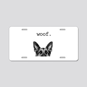 Woof Aluminum License Plate