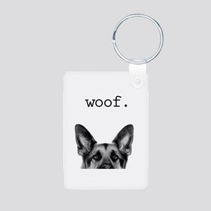 woof Aluminum Photo Keychain