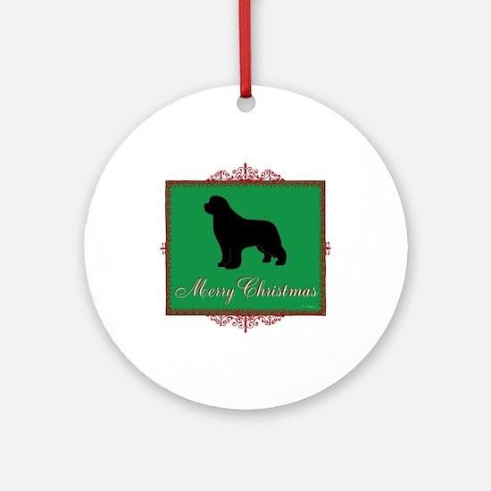 Merry Christmas Newfoundland Ornament (Round)