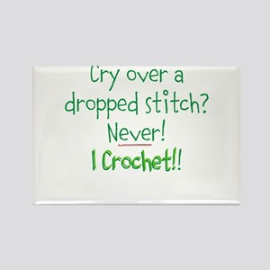 Crocheters Don't Cry Rectangle Magnet