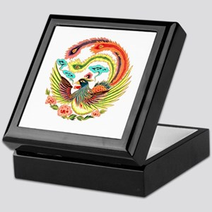 Asian Dragon or Phoenix Keepsake Box