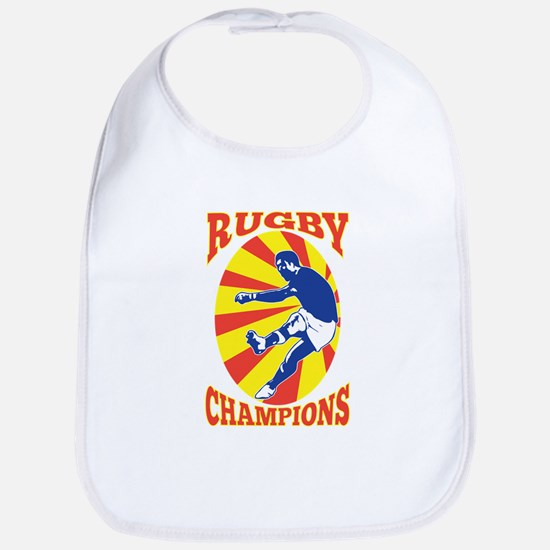 rugby player retro Bib