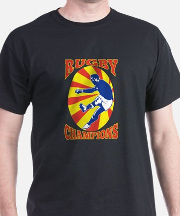 rugby player retro T-Shirt