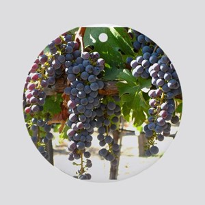 Wine Grapes Ornament Round