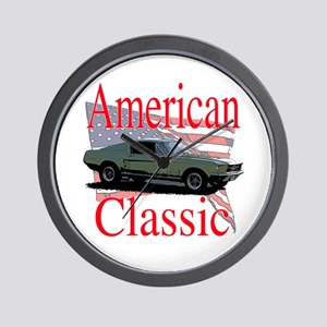 67 Mustang Fastback Wall Clock