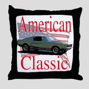 67 Mustang Fastback Throw Pillow
