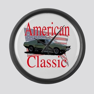 67 Mustang Fastback Large Wall Clock