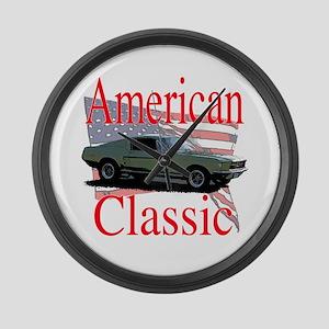67 Mustang Fastback Large Wall Clock
