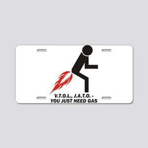 Need Gas Aluminum License Plate