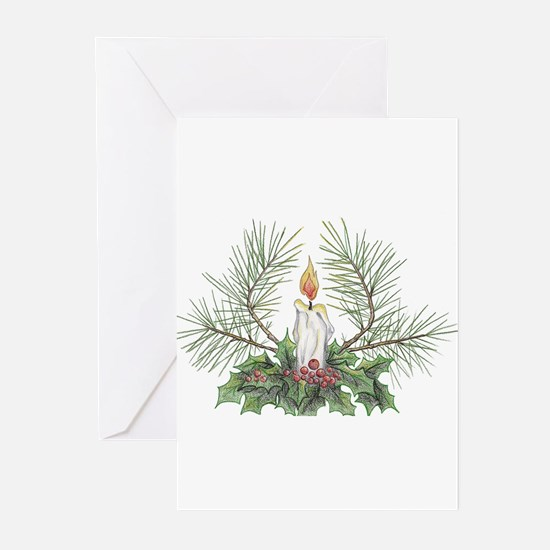 Yule Candle Greeting Cards (Pk of 10)