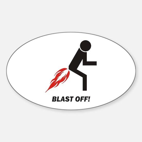 Blast Off Sticker (Oval)