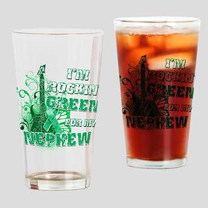 I'm Rockin Green for my Nephe Drinking Glass