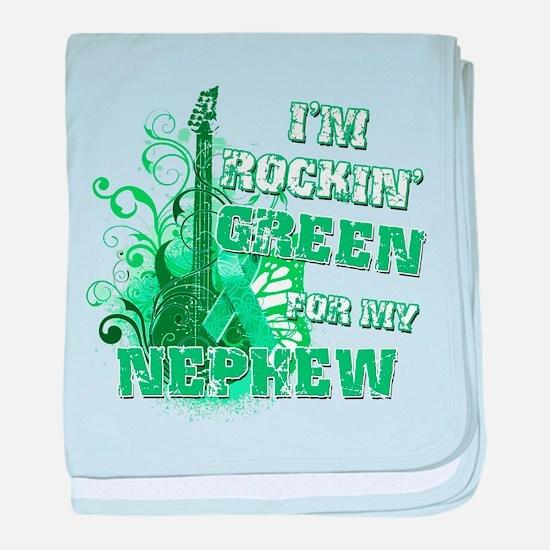 I'm Rockin Green for my Nephe baby blanket