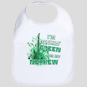 I'm Rockin Green for my Nephe Bib