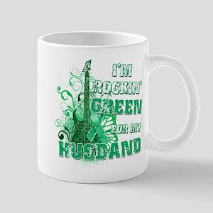 I'm Rockin Green for my Husba Mug