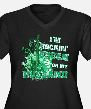I'm Rockin Green for my Husba Women's Plus Size V-