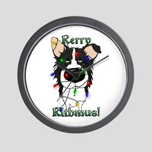 Border Collie - Rerry Rithmus Wall Clock