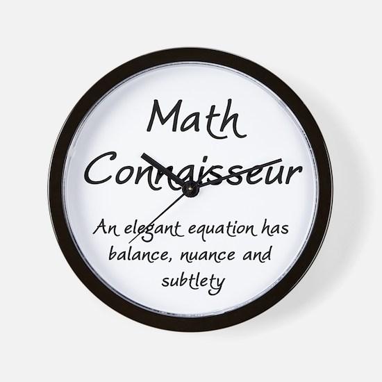 Math Connaisseur Wall Clock