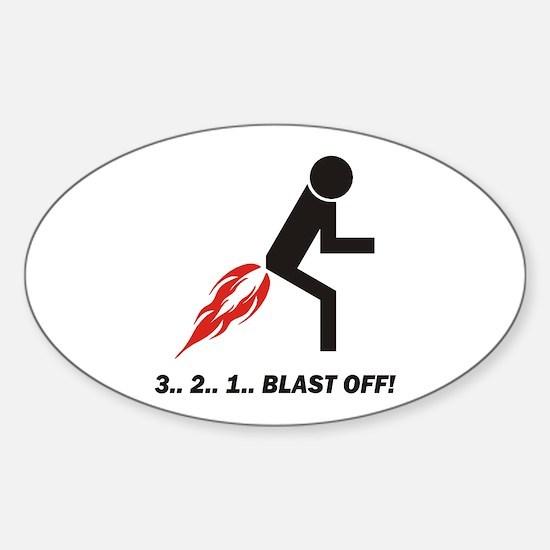 Blast Off Sticker (Oval 10 pk)