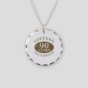 Vintage 90th Birthday Necklace Circle Charm