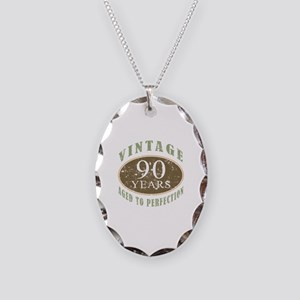 Vintage 90th Birthday Necklace Oval Charm