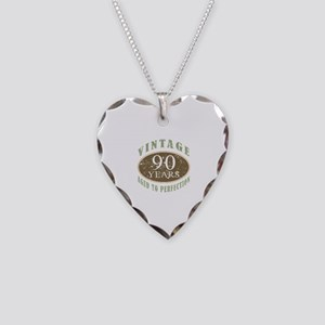 Vintage 90th Birthday Necklace Heart Charm