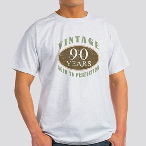 Vintage 90th Birthday Light T-Shirt