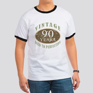 Vintage 90th Birthday Ringer T