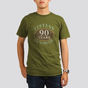 Vintage 90th Birthday Organic Mens T Shirt Dark