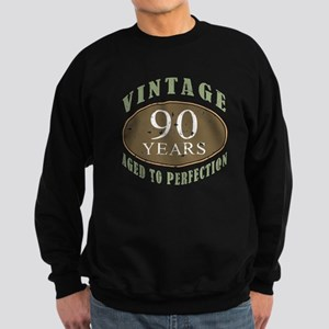 Vintage 90th Birthday Sweatshirt (dark)