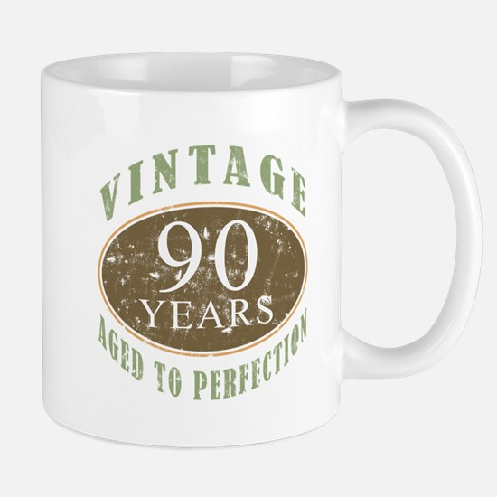 Vintage 90th Birthday Mug