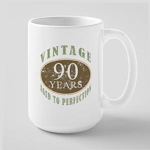 Vintage 90th Birthday Large Mug