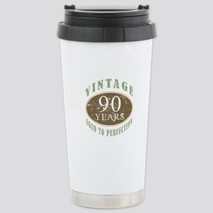 Vintage 90th Birthday Stainless Steel Travel Mug