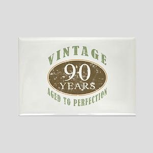 Vintage 90th Birthday Rectangle Magnet