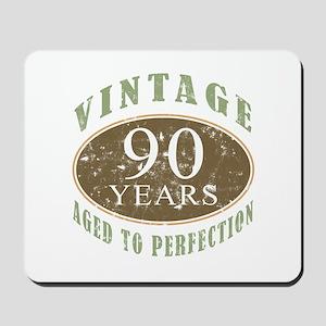 Vintage 90th Birthday Mousepad