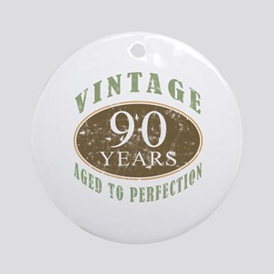 Vintage 90th Birthday Ornament (Round)