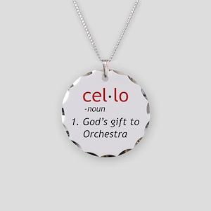 Cello Definition Necklace Circle Charm