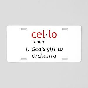 Cello Definition Aluminum License Plate