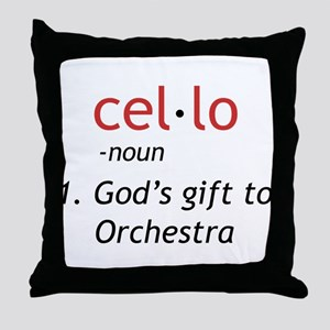 Cello Definition Throw Pillow